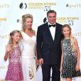Charles et Camilla de Bourbon des Deux-Siciles et leurs filles Maria-Chiara et Maria-Carolina - Cérémonie des Golden Nymph Awards lors du 55ème Festival de Télévision de Monte Carlo le 18 juin 2015.
