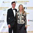 Lindsay Wagner (Super Jaimie) et son fils Alex - Cérémonie des Golden Nymph Awards lors du 55ème Festival de Télévision de Monte Carlo le 18 juin 2015.