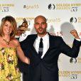 Marco d'Amore (Gomorrah) Outstanding actor, Drama TV Series, et Sonia Rovai, productrice Sky Italie ont reçu une nymph dans la catégorie Best International Drama TV Series - Cérémonie de remise des prix des Golden Nymph Awards lors du 55ème Festival de Télévision de Monte Carlo le 18 juin 2015.