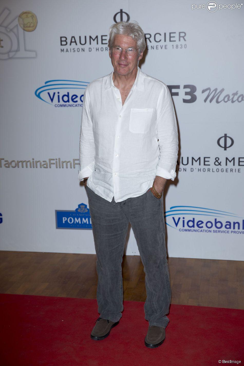 Richard Gere - Festival du film de Taormina en Sicile le 17 juin 2015