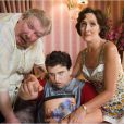 Richard Griffiths et les Dursley dans la saga Harry Potter.