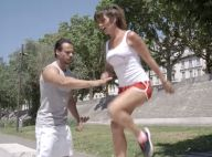 Laetitia Milot : Sportive en pleine action en compagnie d'un coach très musclé !
