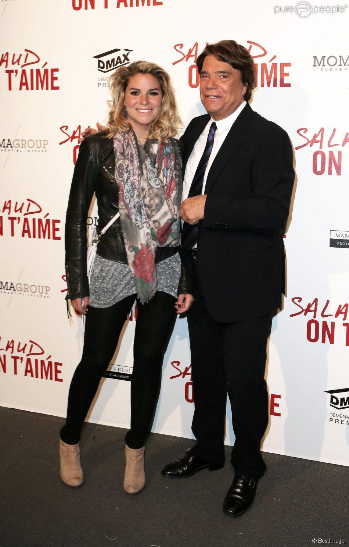 Bernard Tapie et sa fille Sophie, au UGC Normandie sur les Champs-Elysées à Paris le 31 mars 2014.