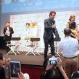 Eric Lartigau et Louane au 23e festival du film français au Japon d'UniFrance, (Tokyo, juin 2015)