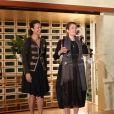Isabelle Giordano   Directrice Générale d'UniFrance films  et la marraine de l'édition 2015 Emmanuelle Devos lors du 23e festival du film français au Japon d'UniFrance, (Tokyo, juin 2015)