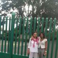 Maud Versini et sa mère au Mexique - Photo postée sur Twitter, février 2013