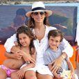Maud Versini et ses enfants Adrian et Sofia - Photo postée sur Twitter, mai 2013