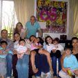 Maud Versini et toute sa famille à Paris - Photo postée sur Twitter, juillet 2013