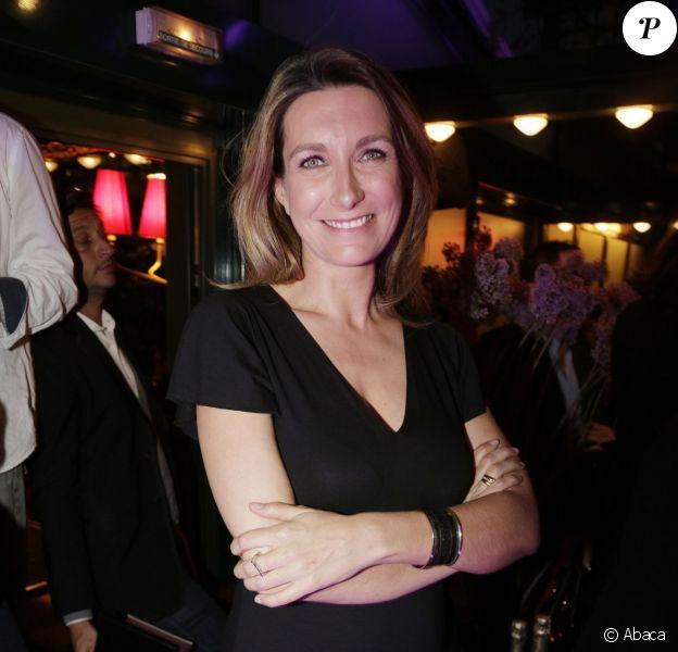 Anne-Claire Coudray enceinte - Prix de la Closerie des Lilas 2015 à Paris, le 8 avril 2015