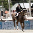 Guillaume Canet sur Sweet Boy d'Alpa finit 6ème dans le prix Laiterie de Montaigu - Longines Paris Eiffel Jumping au Champ-de-Mars à Paris, le 4 juillet 2015.