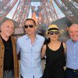 Exclusif - François Henri Pinault, Gad Elmaleh, Salma Hayek, François Pinault et guest - People lors du Longines Paris Eiffel Jumping au Champ-de-Mars à Paris, le 4 juillet 2015.