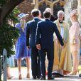 Justin Welby, l'archevêque de Cantorbéry avec les invités du baptême de la princesse Charlotte en l'église Saint Mary Magdalene de Sandringham, le 5 juillet 2015