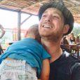 Michael Bublé et son fis Noah - Instagram, avril 2015