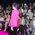 Naomi Watts, Marisa Tomei, Juliette Binoche, Bianca Brandolini d'Adda, John Legend et Chrissy Teigen au premier rang du défilé Giorgio Armani Privé (collection haute couture automne-hiver 2015/2016) au Théâtre National de Chaillot à Paris, le 7 juillet 2015.