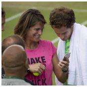 Amélie Mauresmo : Sourires et fous rires, future maman détendue avec Andy Murray