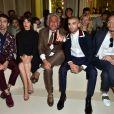 Joe Jonas, Jeanne Damas, Giancarlo Giammetti, Zayn Malik et Hidetoshi Nakata - People au défilé de mode masculine Valentino PAP Printemps / été 2016 à l'Hôtel Salomon de Rothschild le 24 juin 2015 à Paris.