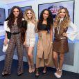 Jesy Nelson, Perrie Edwards, Leigh-Anne Pinnock et Jade Thirlwall du groupe Little Mix lors d'une interview pour le Capital FM Summertime Ball Radio à Londres le 6 juin 2015