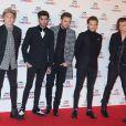 """Le groupe One Direction (Niall Horan, Zayn Malik, Liam Payne, Louis Tomlinson, Harry Styles) - Soirée des """"BBC Music Awards"""" à Londres, le 11 décembre 2014."""