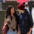 Justin Bieber et Selena Gomez dans les rues de Los Angeles, le 5 avril 2012