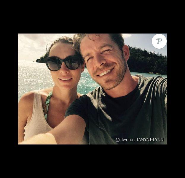 Sean Maguire et sa femme Tanya en avril dernier. L'acteur et sa compagne sont parents d'un petit garçon.