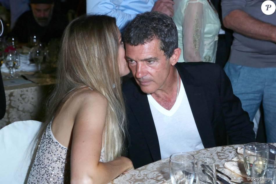 Antonio Banderas et sa compagne Nicole Kimpel - Soirée à l'hôtel Delfini lors du festival du film à Ischia le 14 juillet 2015.