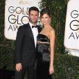 Adam Levine et Behati Prinsloo à la 72ème cérémonie annuelle des Golden Globe Awards à Beverly Hills. Le 11 janvier 2015