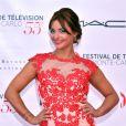 Priscilla Betti (Robe Christophe Guillarmé) - Photocall de la soirée d'ouverture du 55e festival de télévision de Monte-Carlo à Monaco. Le 13 juin 2015.