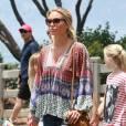 Semi-Exclusif - Alex Curran et ses filles Lourdes, Lilly-Ella et Lexie se promènent près de la plage à Santa Monica, le 19 juillet 2015. Son époux Steven Gerrard, qui prépare la saison avec son club des Los Angeles Galaxy, est le grand absent de cette promenade en famille.