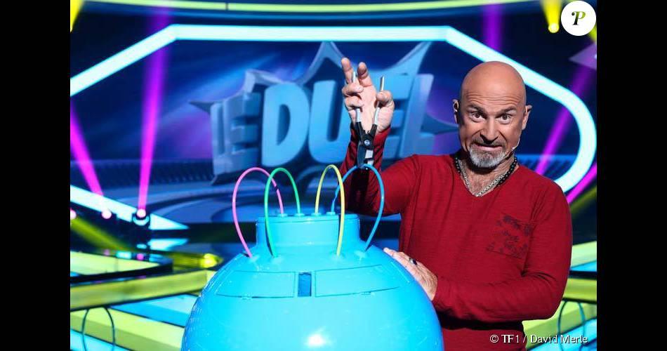 Vincent Lagaf' sur le tournage de l'émission  Boom!  sur TF1.