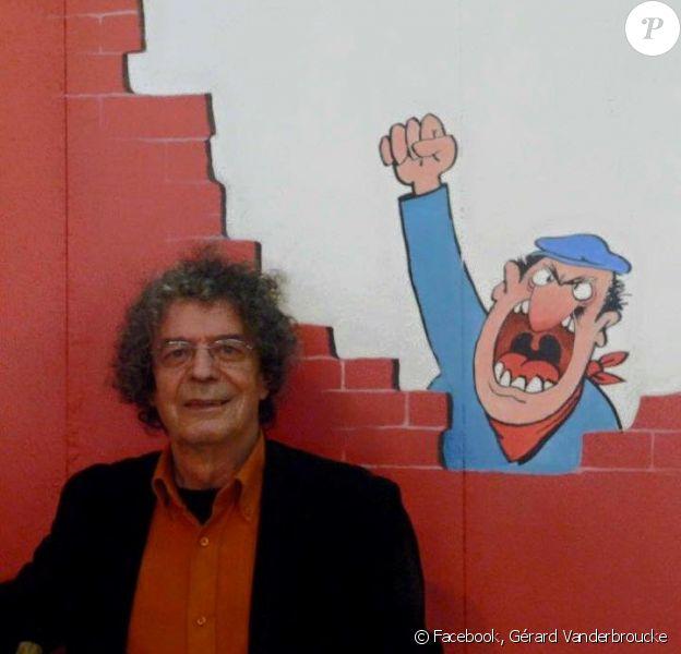 Jean-Jacques Loup au Salon de l'humour de Saint-Just-Le-Martel. Le dessinateur est décédé le 31 juillet 2015