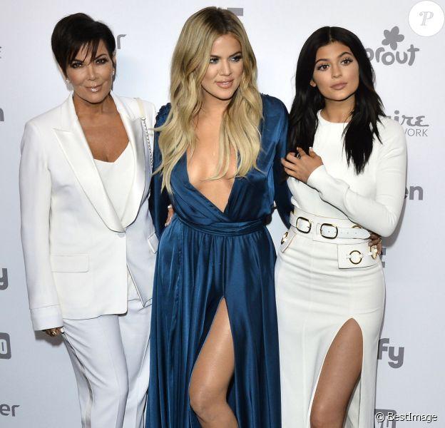 """Kris Jenner, Khloe Kardashian, Kylie Jenner à la soirée """" 2015 NBCUniversal Cable Entertainment Upfront """" à New York, le 14 mai 2015"""