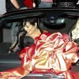 Kylie Jenner et sa mère Kris Jenner - Kylie Jenner fête ses 18 ans avec sa famille et ses amis à West Hollywood, le 9 août 2015. La soirée d'anniversaire a débuté au The Nice Guy pour aller se terminer au Bootsy Bellows où son compagnon le rappeur Tyga lui a fait la surprise de lui offrir une voiture de la marque Ferrari d'une valeur de 320 000 dollars.