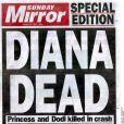La presse britannique en deuil à la mort de Lady Di, survenue le 31 ao^put 1997 à Paris