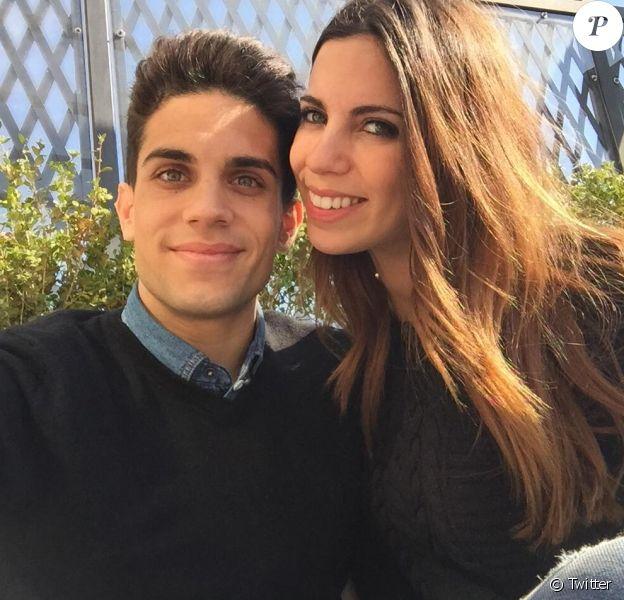 Marc Bartra et sa compagne Melissa Jimenez - mars 2015
