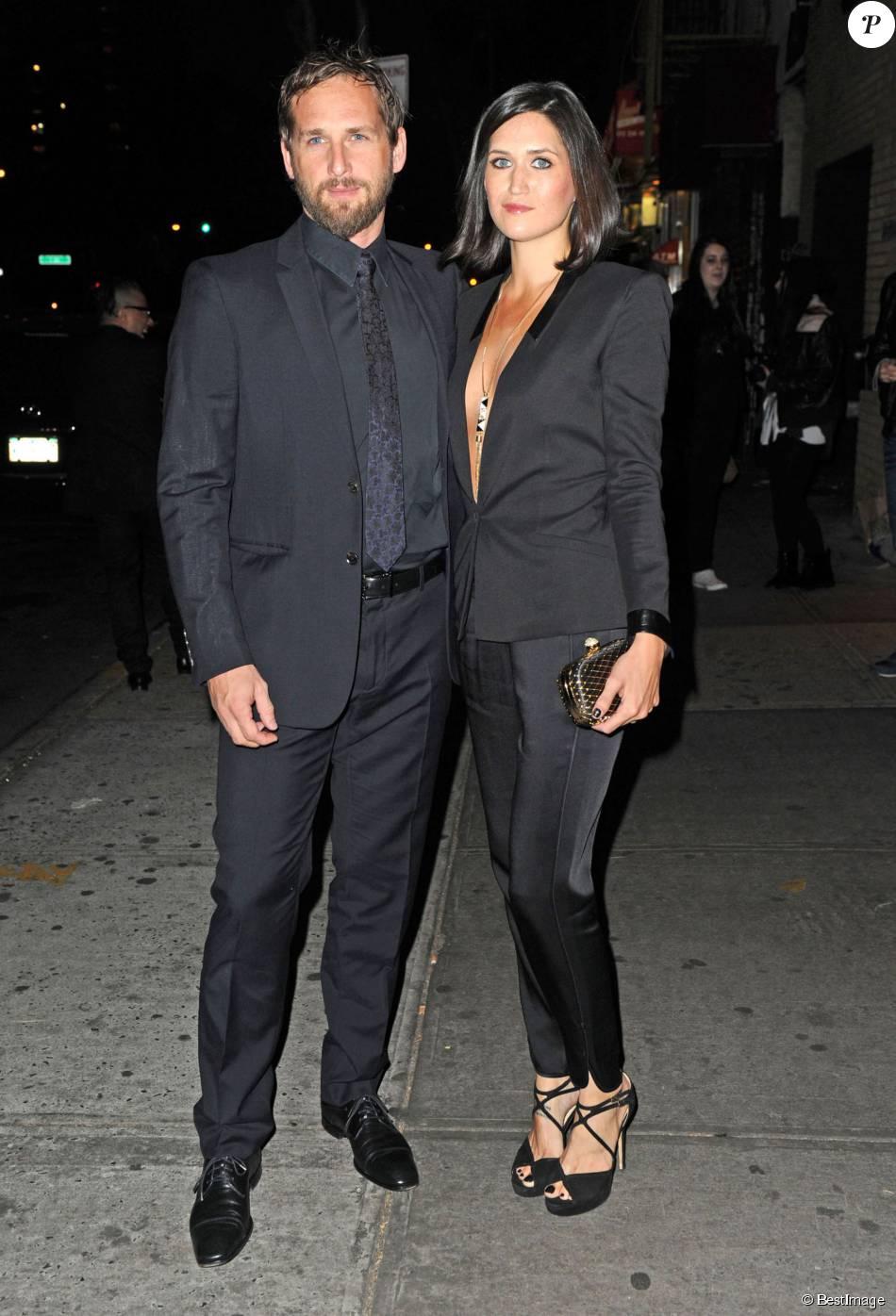 """Josh Lucas et sa femme Jessica - Premiere du film """"Big Sur"""" a New York, le 28 octobre 2013."""