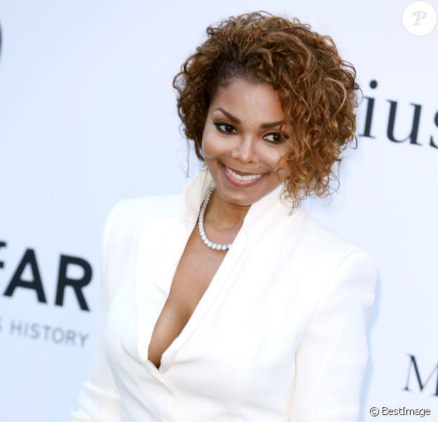 """Janet Jackson - Photocall de la soiree """"Amfar's 20th Cinema Against AIDS"""" a l'Eden Roc au Cap d'Antibes lors du 66eme festival du film de Cannes. Le 23 mai 2013"""
