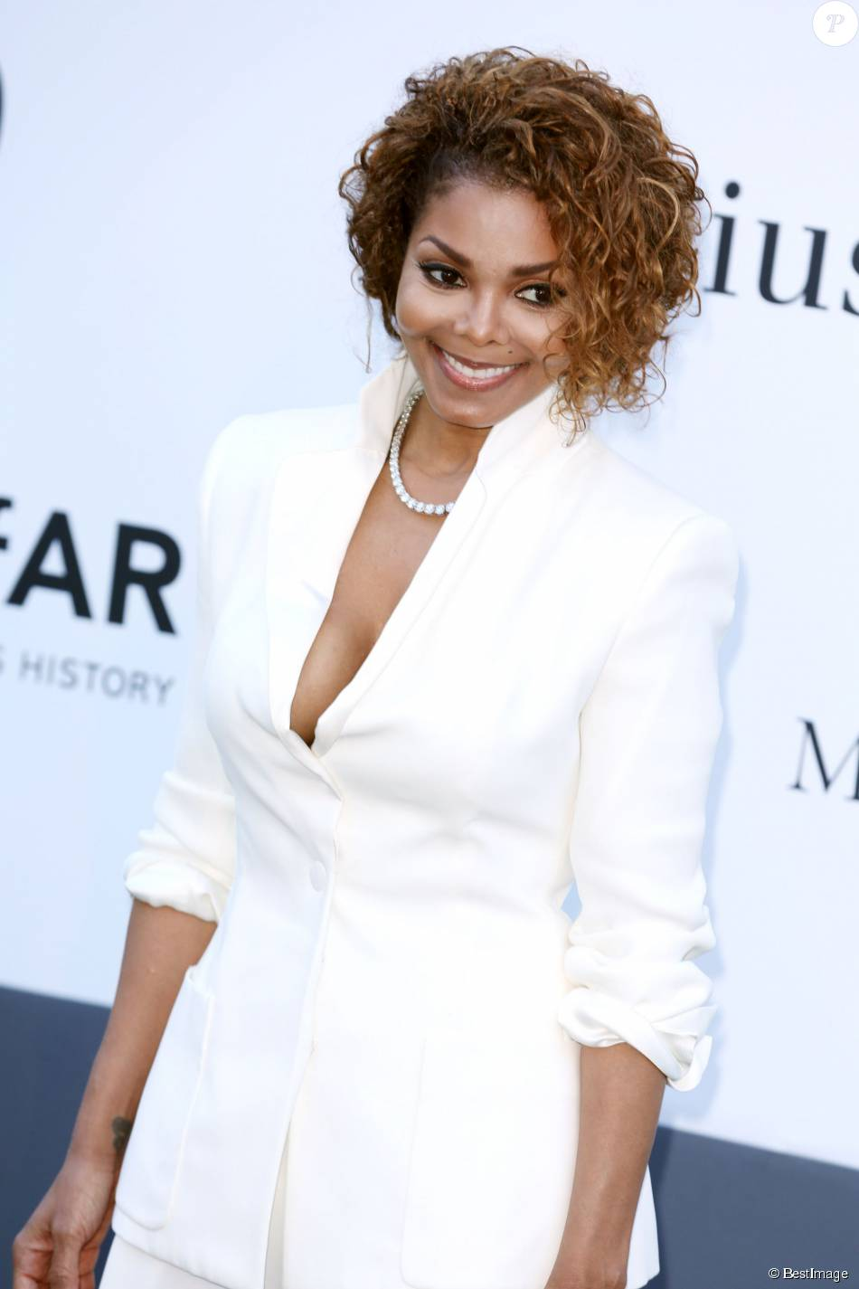 "Janet Jackson - Photocall de la soiree ""Amfar's 20th Cinema Against AIDS"" a l'Eden Roc au Cap d'Antibes lors du 66eme festival du film de Cannes. Le 23 mai 2013"