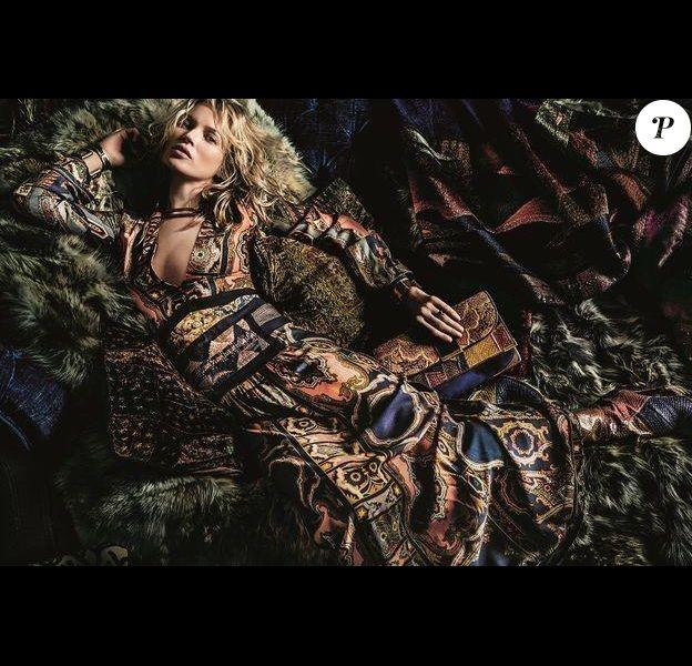 Kate Moss pose pour la campagne Etro automne/hiver 2015-2016