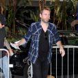 Chad Kroeger arrivant au Staples Center pour assister au match de Hockey des Kings de Los Angeles contre les Rangers de New York à Los Angeles, le 14 juin 2014.
