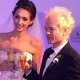 Mariage de Deryck Whibley et sa belle Ariana Cooper à Los Angeles le 30 août 2015.
