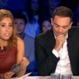 Léa Salamé et Yann Moix, dans  On n'est pas couché  sur France 2, le samedi 5 septembre 2015.