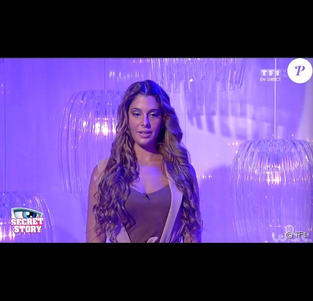 Coralie, dans Secret Story 9 l'hebdo, le vendredi 4 septembre 2015 sur TF1.