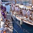 Le prince Albert II de Monaco au Yacht Club de Monaco le 11 septembre 2015 pour une revue d'effectifs dans le cadre de la 12e Monaco Classic Week.