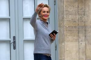 Sharon Stone, sublime et décontractée : Une visite très privée à Paris...