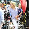 "Jennifer Aniston et Kate Hudson sur le tournage ""Mother Day"" à Atlanta le 11 septembre 2015."