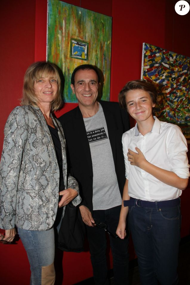 Thierry beccaro peintre abstrait soutenu par sa femme et son fils purepeople - Thierry beccaro pauline beccaro ...