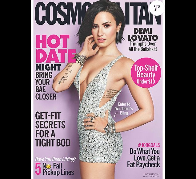 Demi Lovato est jugée trop sexy dans le dernier numéro du magazine Cosmopolitan