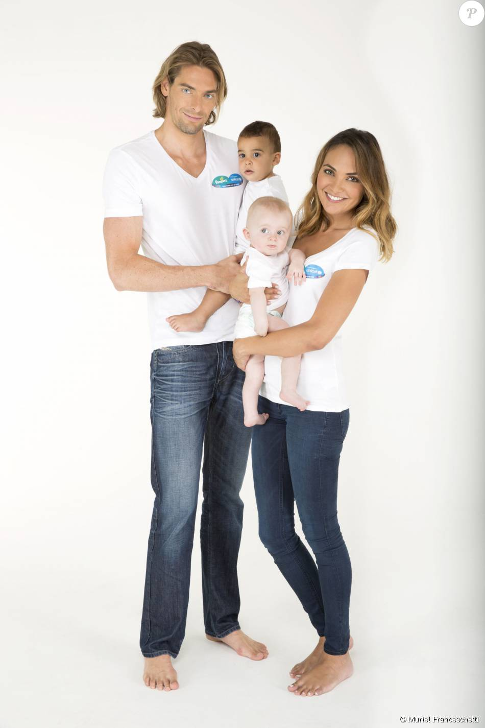 Camille Lacourt et son épouse Valérie Bègue sont les nouveaux parrain et marraine de cette campagne 2015 menée par l'Unicef et Pampers contre le tétanos maternel et néonatal