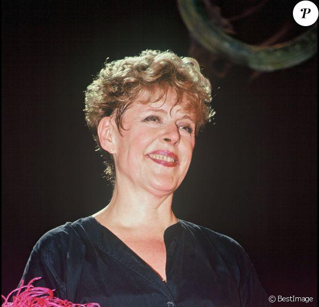 """Sylvie Joly lors de la générale de son spectacle """"La si jolie vie de Sylvie Joly"""" au théâtre Dejazet à Paris en 1994"""