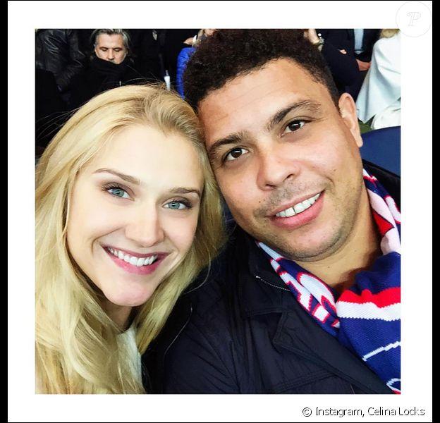 Ronaldo avec sa compagne Celina Locks - Photo publiée le 5 octobre 2015